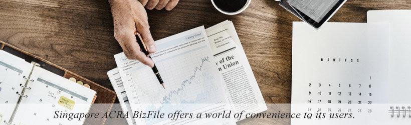 新加坡的会计和企业监管局(ACRA)的在线信息检索和归档系统(BizFile)