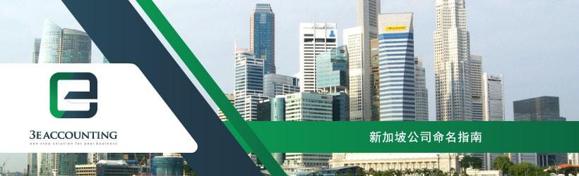 新加坡公司命名指南