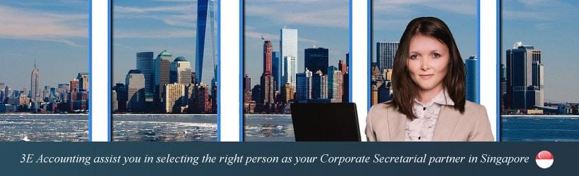 3E Accounting provides corporate secretary services in Singapore