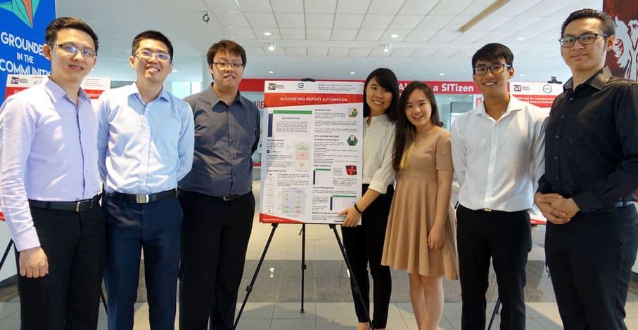 3E会计公司与新加坡理工大学(SIT)的学生合作开发了一套网络应用程式