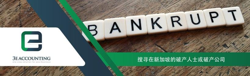 搜寻在新加坡的破产人士或破产公司