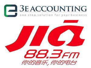 88.3 Jia FM采访了3E会计创始人Lawrence Chai关于实施一个人民财富国家数据库的优点和挑战