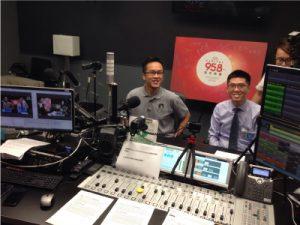 3E会计公司的创始人 Lawrence Chai 在 Capital 95.8FM 的广播采访