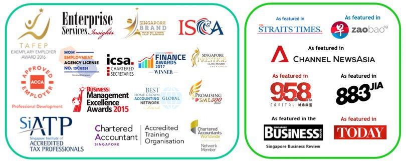 3E Accounting Singapore Business Advisory - Awards and Accreditation