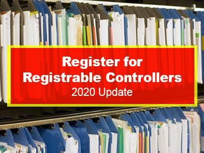 Register for Registrable Controllers 2020 Update